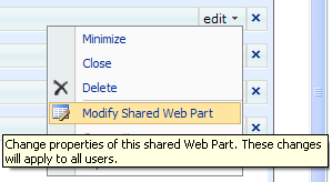 Modify Shared Web Part